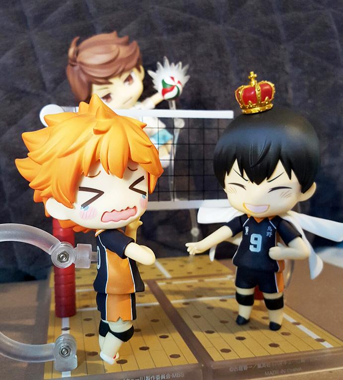 nendoroid good_smile_company shueisha nendoron shichibee haikyuu!! furudate_haruichi oikawa_tooru hinata_shouyou kageyama_tobio orange_rouge