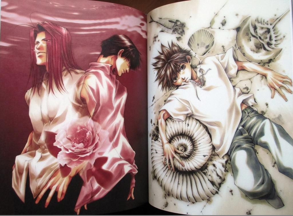 artbook ichijinsha minekura_kazuya saiyuki_gaiden saiyuki_reload bus_gamer hachi_no_su hard_cover