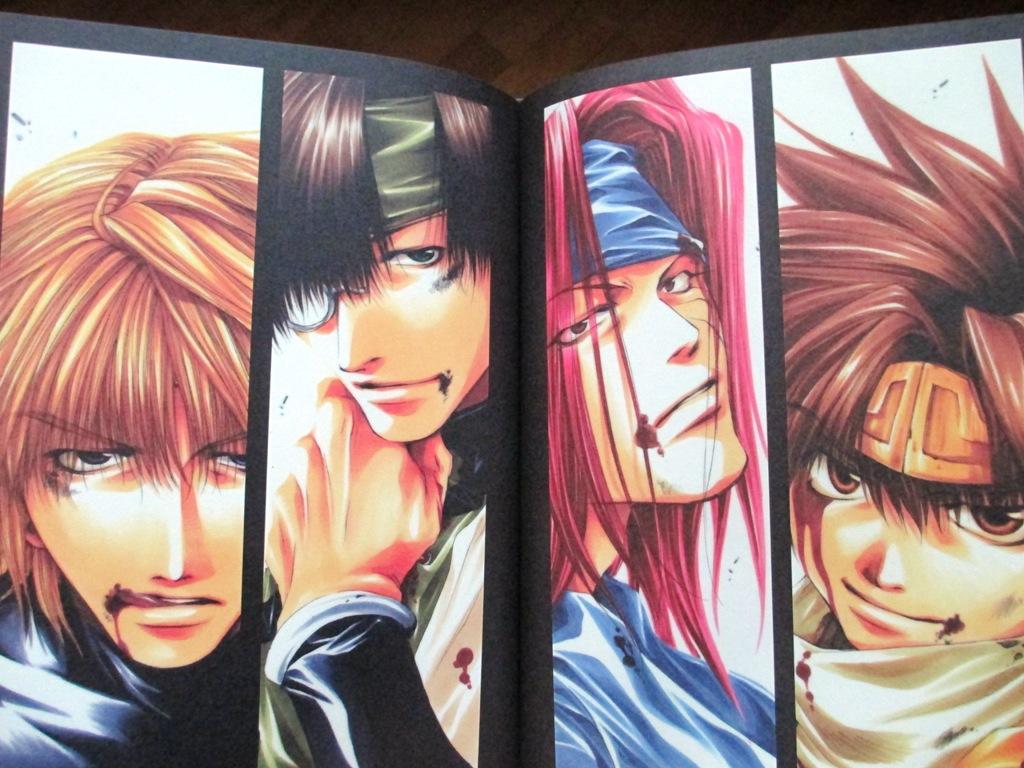 artbook gensou_maden_saiyuki studio_dna minekura_kazuya saiyuki_gaiden hachi_no_su hard_cover