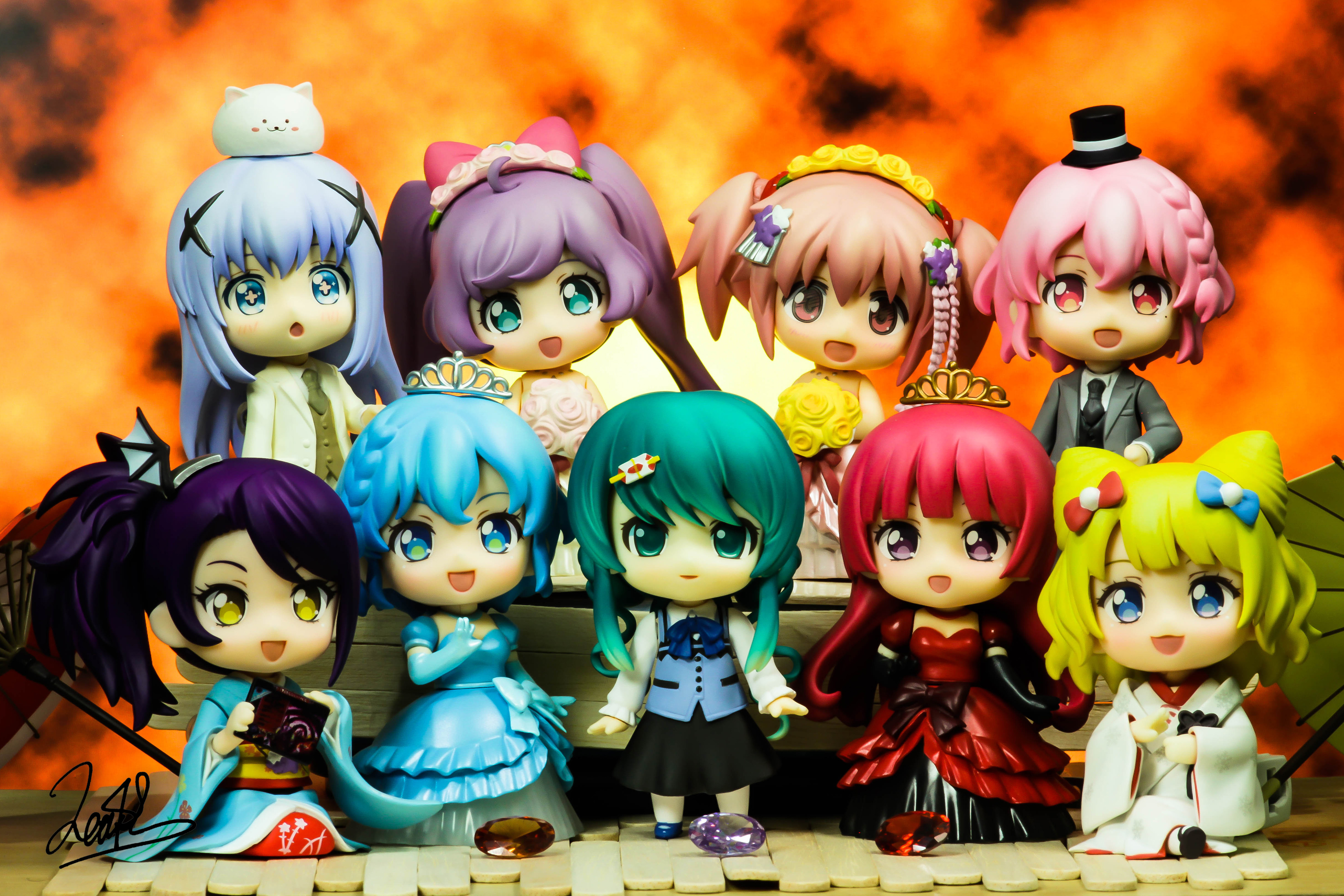 blond_hair vocaloid purple_eyes cyan_eyes nendoroid pink_hair red_hair blue_hair blue_eyes purple_hair hatsune_miku good_smile_company nendoron katou_gaku crypton_future_media mahou_shoujo_madoka★magica kaname_madoka takara_tomy_a.r.t.s aniplex kiking shaft koi tippy shichibee nendoroid_more iguchi_shinya sasaki_kai kirukiru nd_dog gochuumon_wa_usagi_desu_ka? kafuu_chino imai_yuuichi syn_sophia pripara manaka_lala minami_mirei houjou_sophie leona_west toudou_shion dorothy_west taketomo nendoroid_more:_kisekae_wedding nendoroid_co-de nishibu_hidetoshi