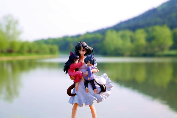 yuki hana ame sadamoto_yoshiyuki medicos_entertainment progress super_figure_art_collection ookami_kodomo_no_ame_to_yuki