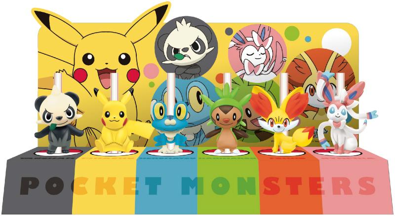 pikachu ninfia harimaron fokko keromatsu yancham pocket_monsters_xy_&_z kentucky_fried_chicken straw_figure