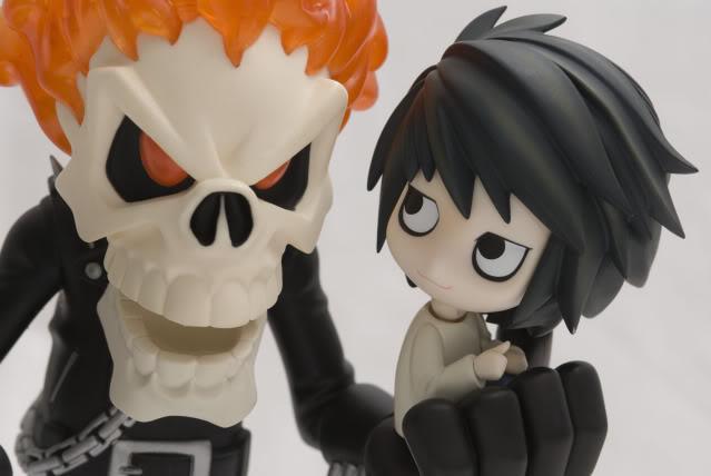 nendoroid dolls good_smile_company death_note medicom_toy l abe_takumi vinyl_collectible_dolls motor_ken ghost_rider ghost_rider_(2007_film)