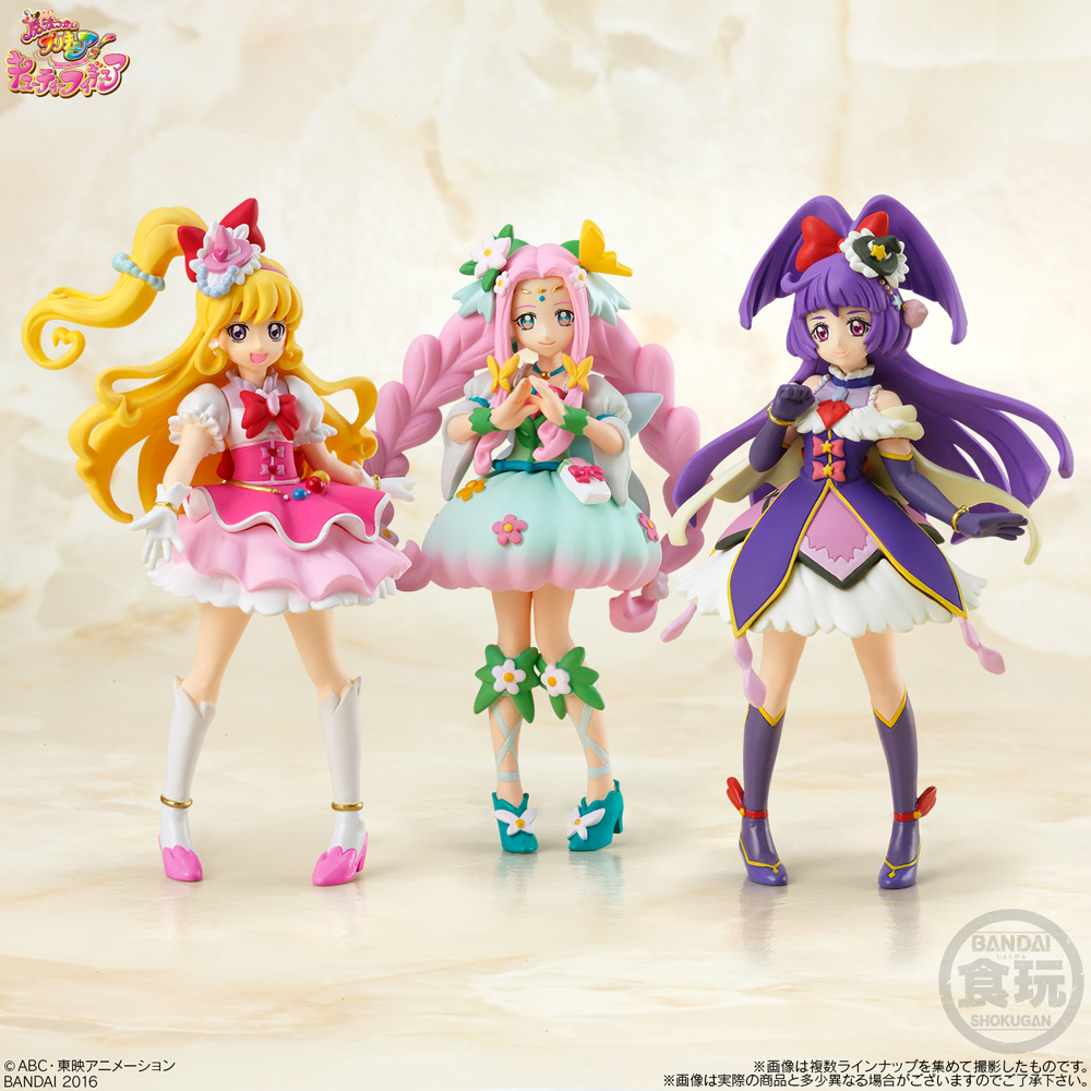 bandai precure toei_animation candy_toy cutie_figure mahou_tsukai_precure! cure_magical cure_miracle mahou_tsukai_precure!_cutie_figure cure_felice