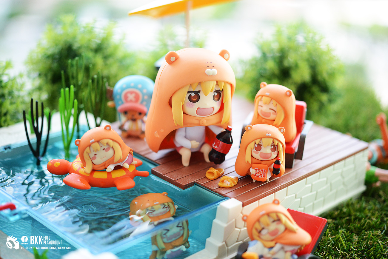 model figure nendoroid anime figurine good_smile_company figures pool toys shueisha cartoon nendoron shichibee sankaku_head doma_umaru himouto!_umaru-chan toyphotography thai manga, kenk.siri umaru