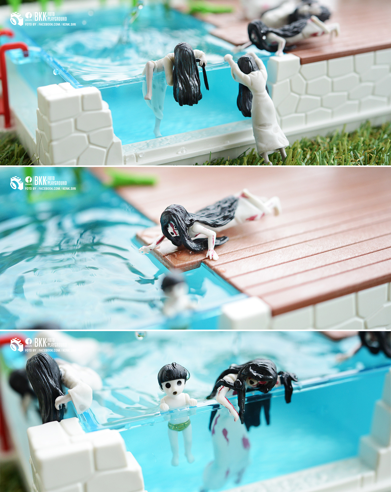 model figure figurine figures pool toys kadokawa yamamura_sadako sadako putitto_series sadako_vs_kayako putitto_series_sadako_vs_kayako saeki_kayako saeki_toshio toyphotography, thai kenk.siri putitto kayako ju-on