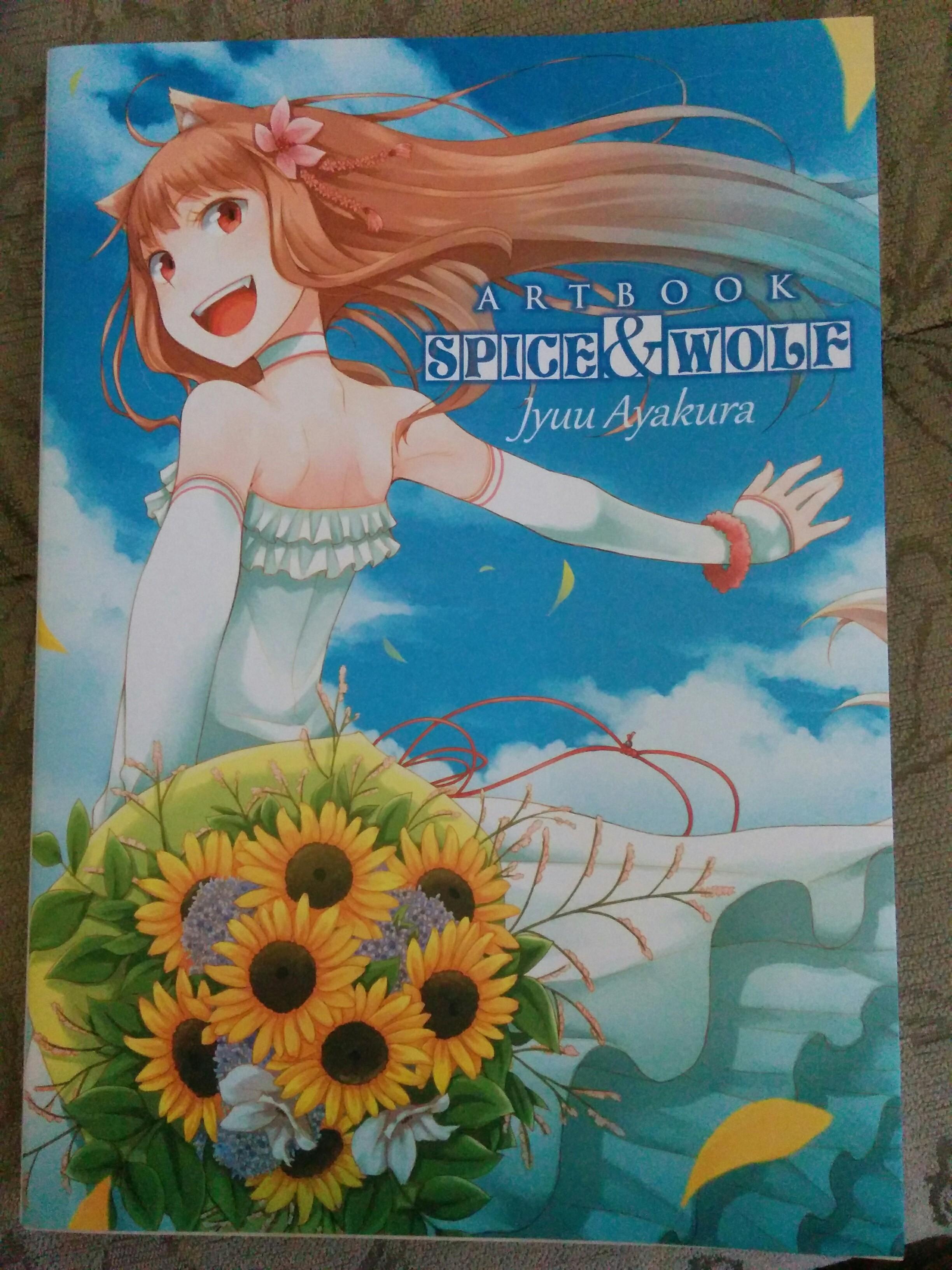 artbook ookami_to_koushinryou ascii_media_works ookami_to_koushinryou_ii ayakura_juu hasekura_isuna
