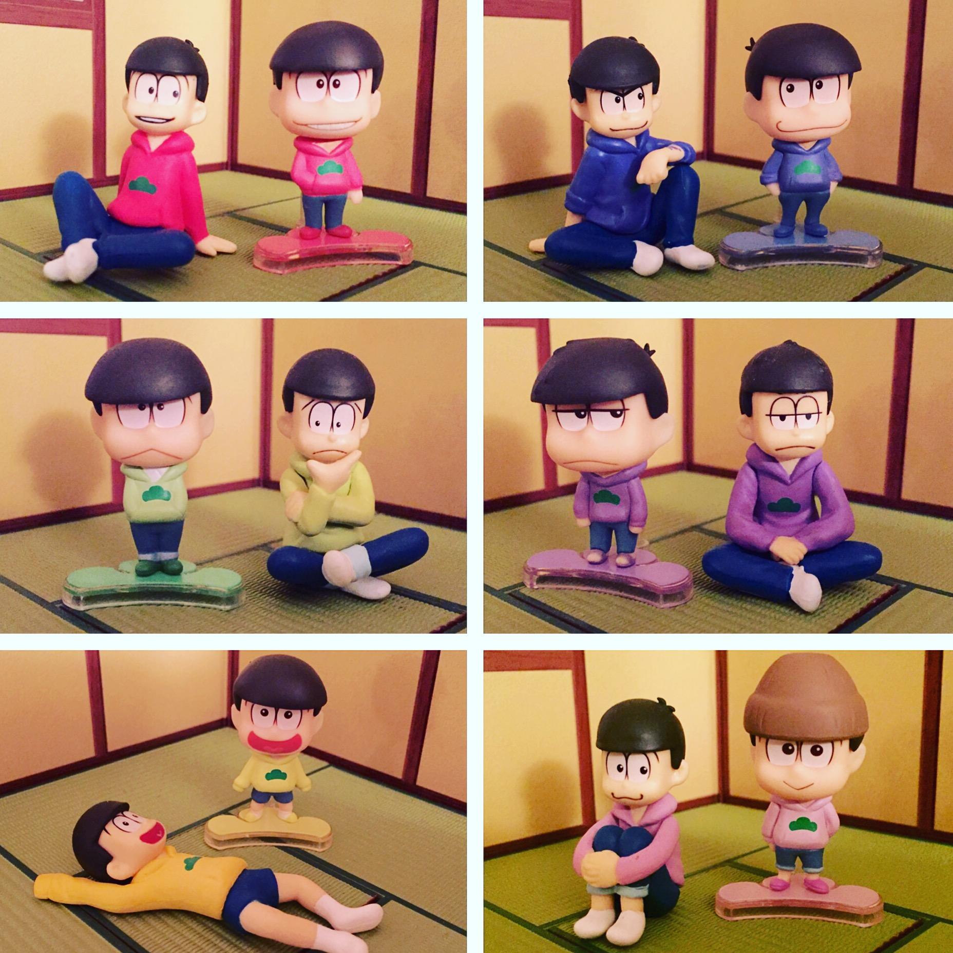 megahouse re-ment nendoron shichibee pose_skeleton orange_rouge osomatsu-san matsuno_todomatsu matsuno_ichimatsu matsuno_karamatsu matsuno_osomatsu matsuno_choromatsu akatsuka_fujio palmate__petit matsuno_jyushimatsu osomatsu-san_trading_figures palmate_petit_osomatsu-san_yappa_parka_wa_raku_dayo_na!
