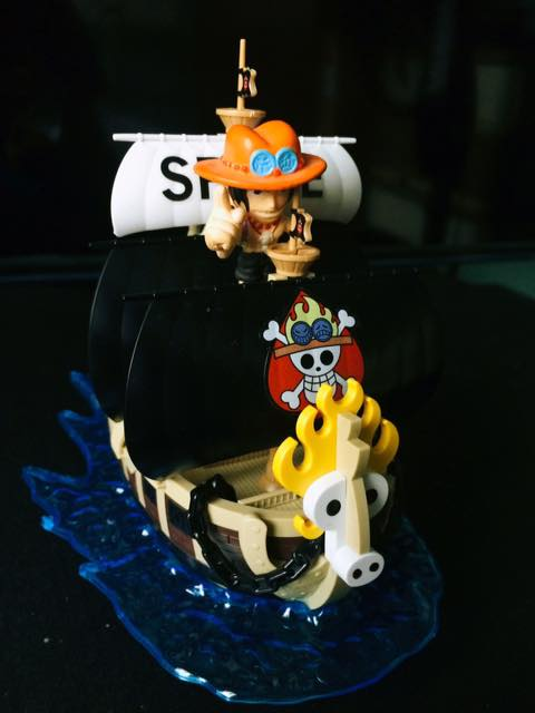 one_piece portgas_d._ace bandai one_piece_grand_ship_collection spade_pirate's_ship
