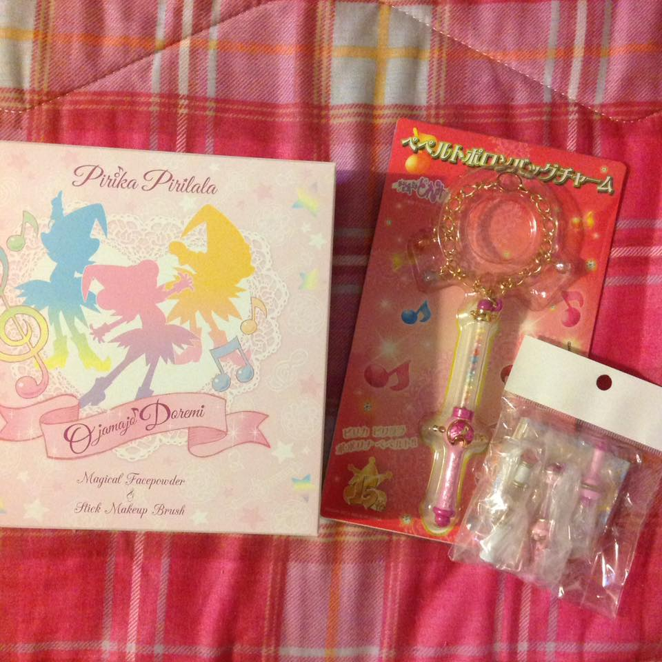 bandai ojamajo_doremi cosmetics bag_charm