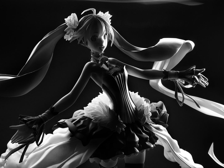 ahoge ribbon sega choker ballet_shoes blue_eyes blue_ribbon aqua_hair hatsune_miku max_factory 1/7 based_on_artwork crypton_future_media shining_wizard_@_sawachika miwa_shirou bare_shoulders 7th_dragon_2020 2014 cr