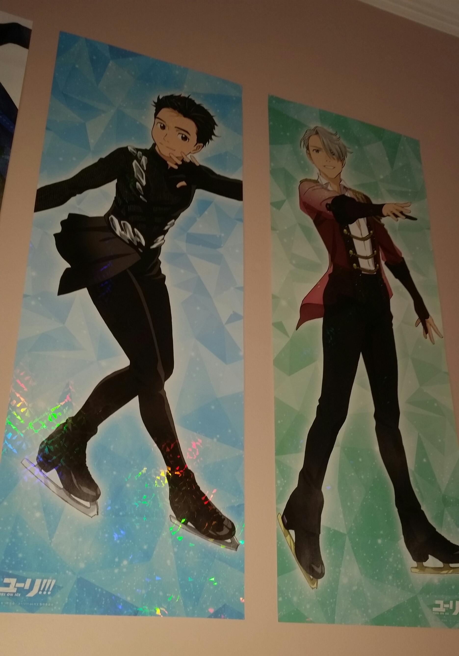 poster kadokawa long_poster mappa yuri!!!_on_ice katsuki_yuuri victor_nikiforov yuri!!!_on_ice_long_poster_collection
