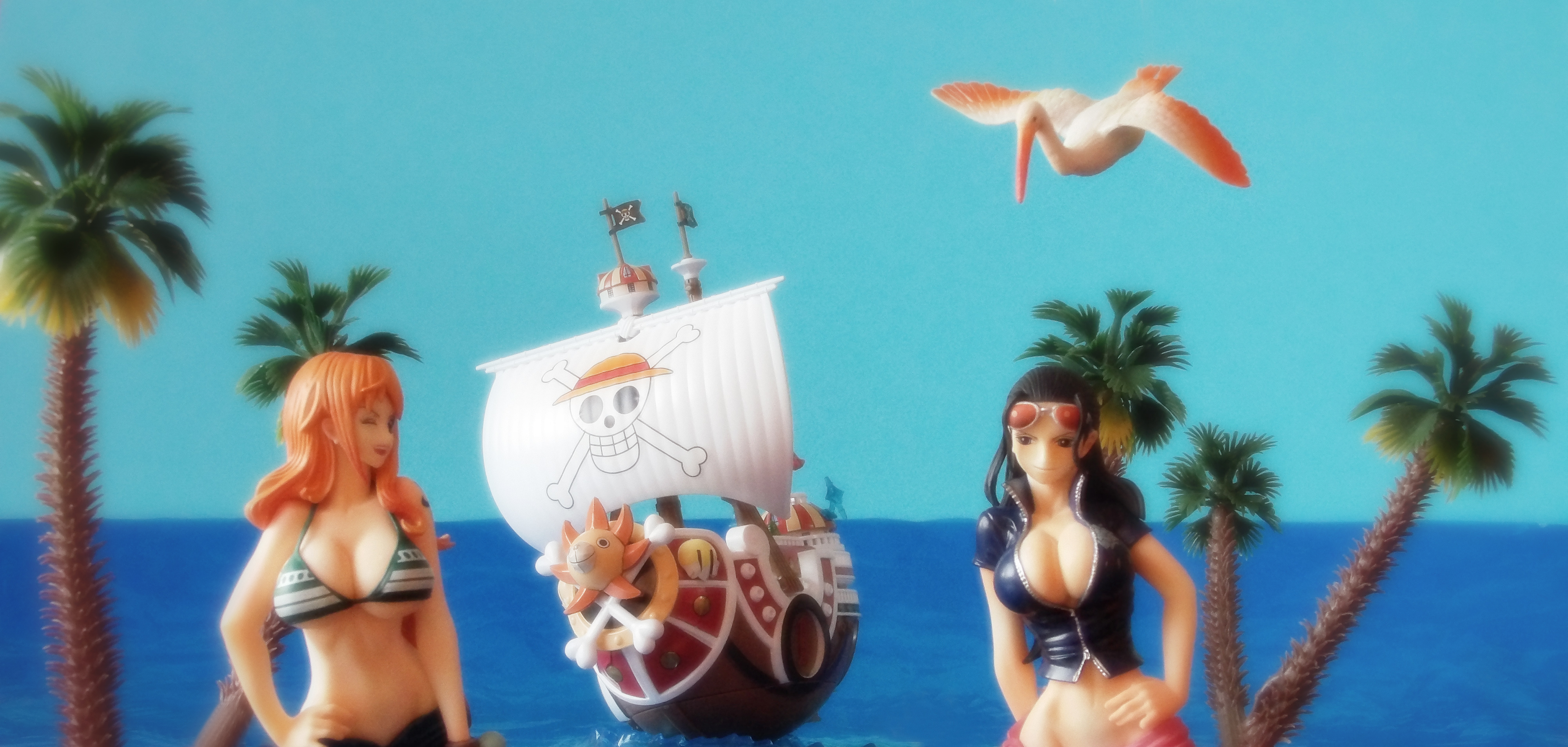nico_robin one_piece_grand_ship_collection bandai thousand_sunny one_piece sentinel hook nami
