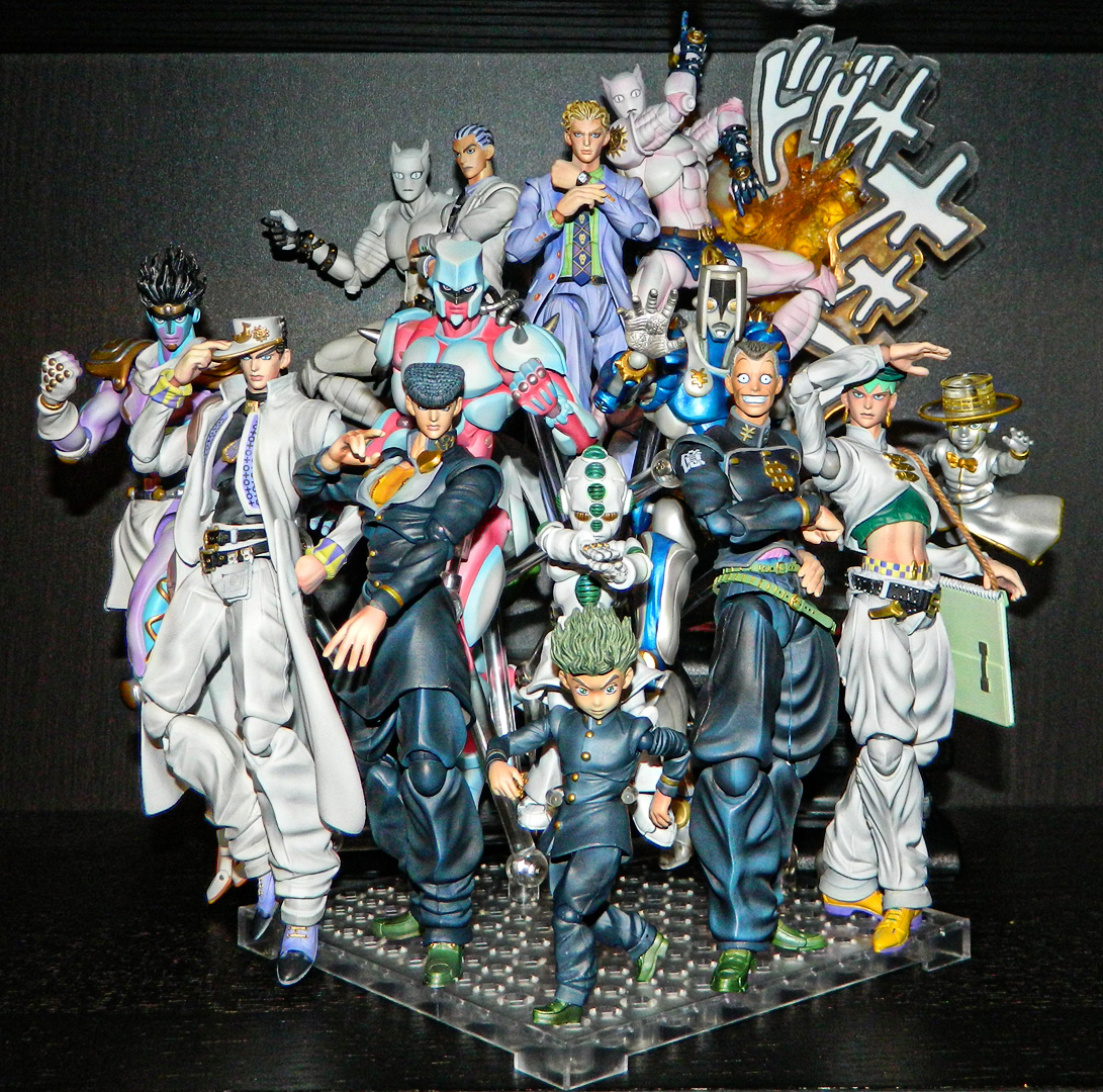super_action_statue bandai shueisha jojo_no_kimyou_na_bouken medicos_entertainment progress kuujou_joutarou araki_hirohiko higashikata_josuke kira_yoshikage kishibe_rohan star_platinum hobby_base crazy_diamond killer_queen hirose_koichi echoes_act_1 the_hand echoes_act_3 echoes_act_2 nijimura_okuyasu heaven's_door stray_cat sheer_heart_attack tamashii_effect lucky_land_communications premium_parts_collection diamond_wa_kudakenai kawajiri_kousaku_(kira)