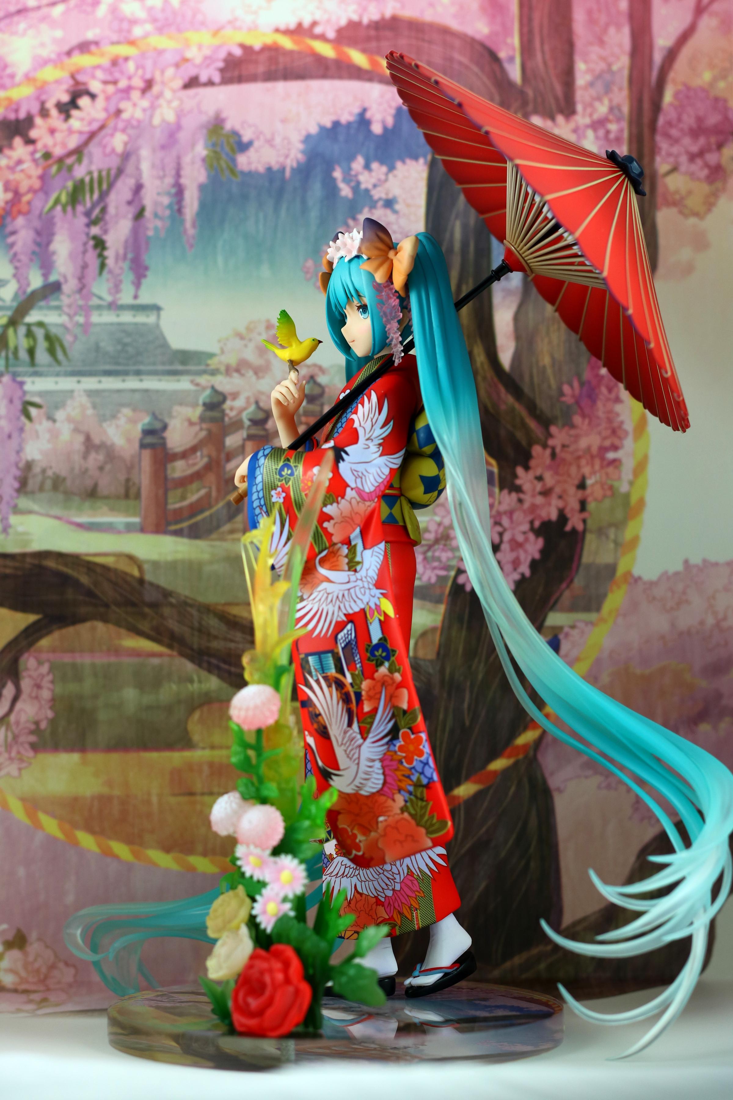 vocaloid yukata kimono japanese_clothes hatsune_miku crypton_future_media cute red_kimono fuzichoco miku beautiful red_yukata stronger female_vocaloid icrea