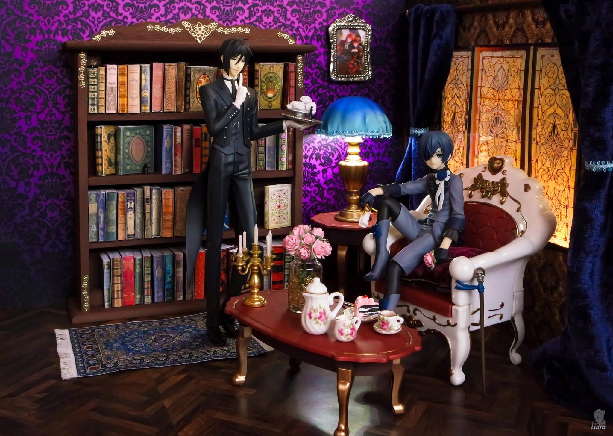 kotobukiya square_enix ciel_phantomhive sebastian_michaelis shirahige_tsukuru piron toboso_yana artfx_j kuroshitsuji_~book_of_circus~