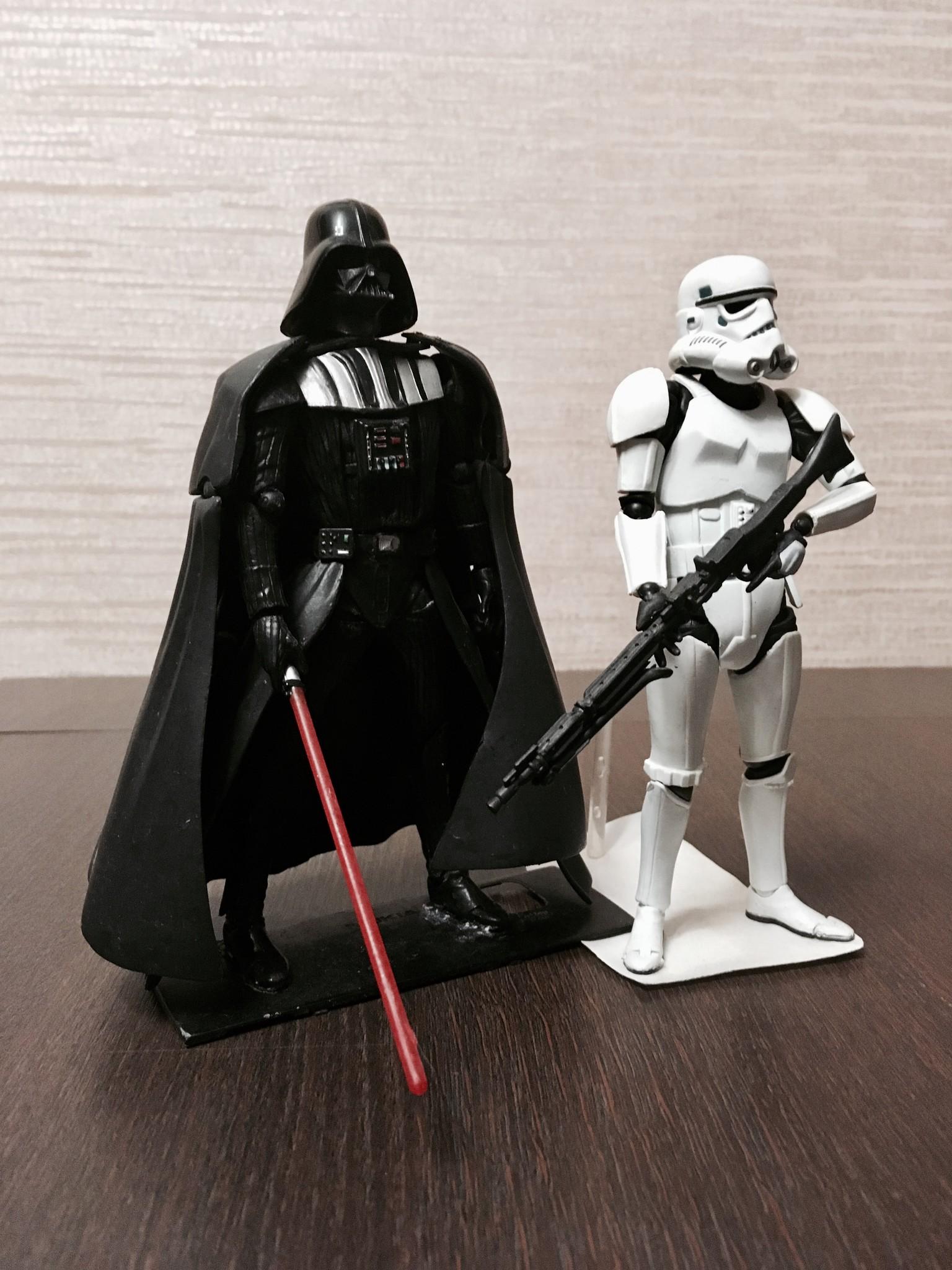 revoltech kaiyodo star_wars darth_vader stormtrooper yamaguchi_katsuhisa lucasfilm star_wars:_revo