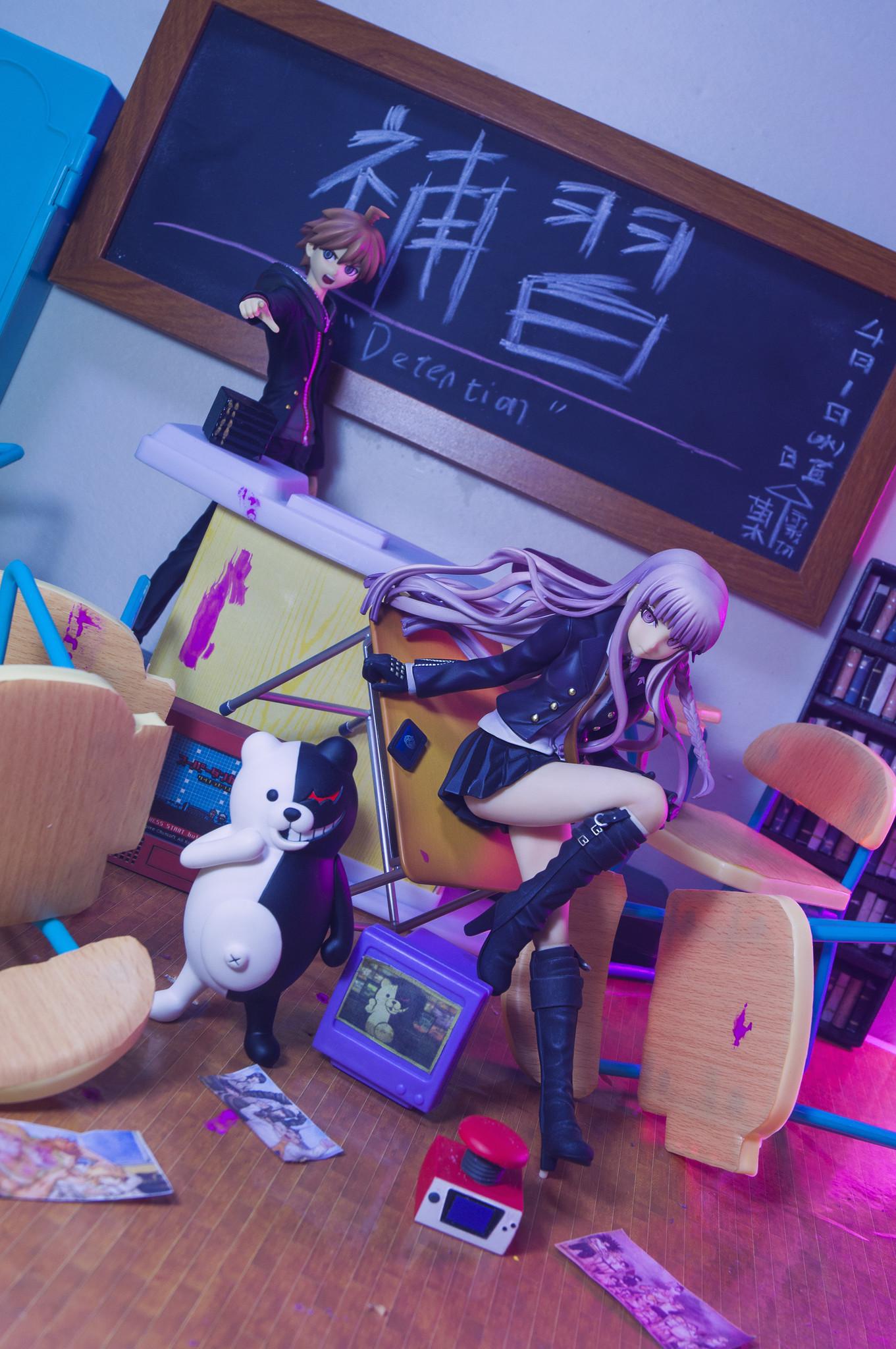 phat_company yoshizawa_mitsumasa algernon_product itandi monokuma shichibee kirigiri_kyouko naegi_makoto spike_chunsoft komatsuzaki_rui chou_koukoukyuu_no_figure flare danganronpa:_the_animation danganronpa_1_/_2_reload