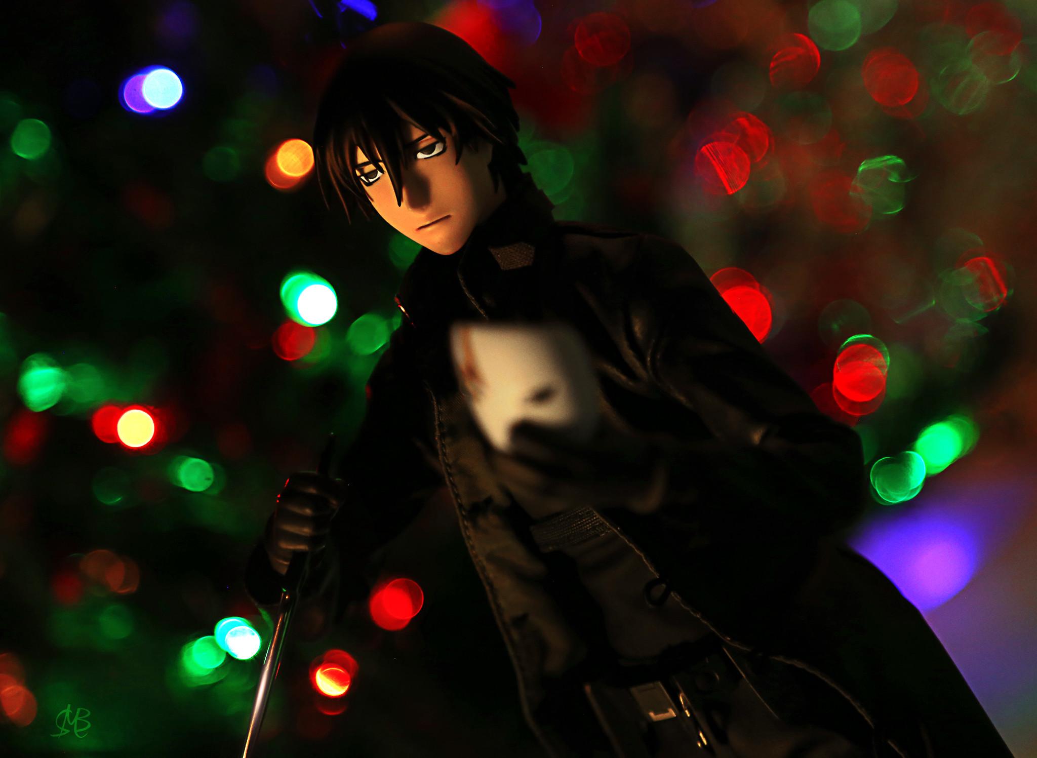 knife mask christmas black_coat male long_coat male_figure medicom_toy christmas_tree real_action_heroes darker_than_black:_kuro_no_keiyakusha hei