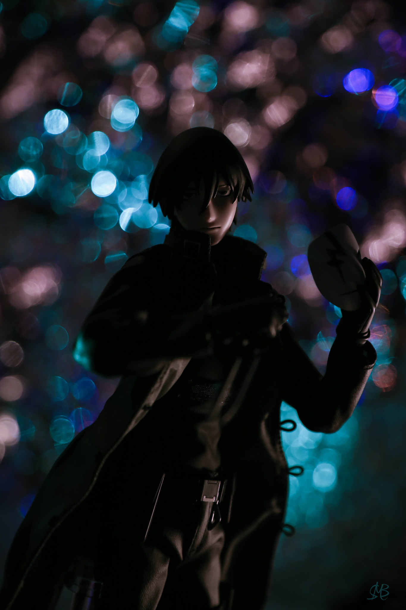 knife mask overcoat black_coat male male_figure medicom_toy real_action_heroes darker_than_black:_kuro_no_keiyakusha hei