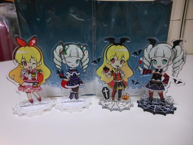 mea aikatsu! hoshimiya_ichigo doujin_goods acrylic_figure toudou_yurika getumen_petora