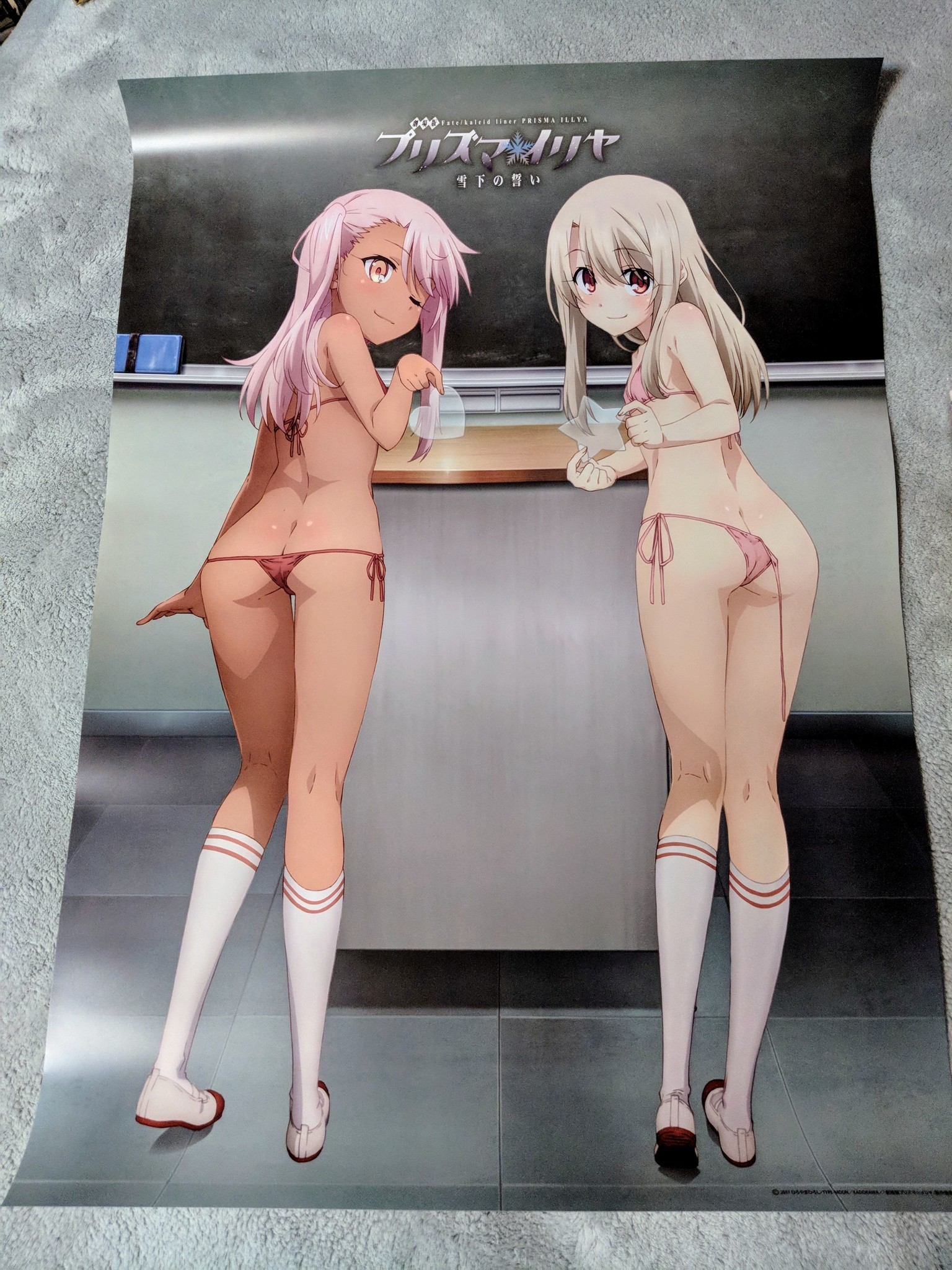 type_moon hobby_japan kuro illyasviel_von_einzbern bath_poster gekijouban_fate/kaleid_liner_prisma_illya:_sekka_no_chikai