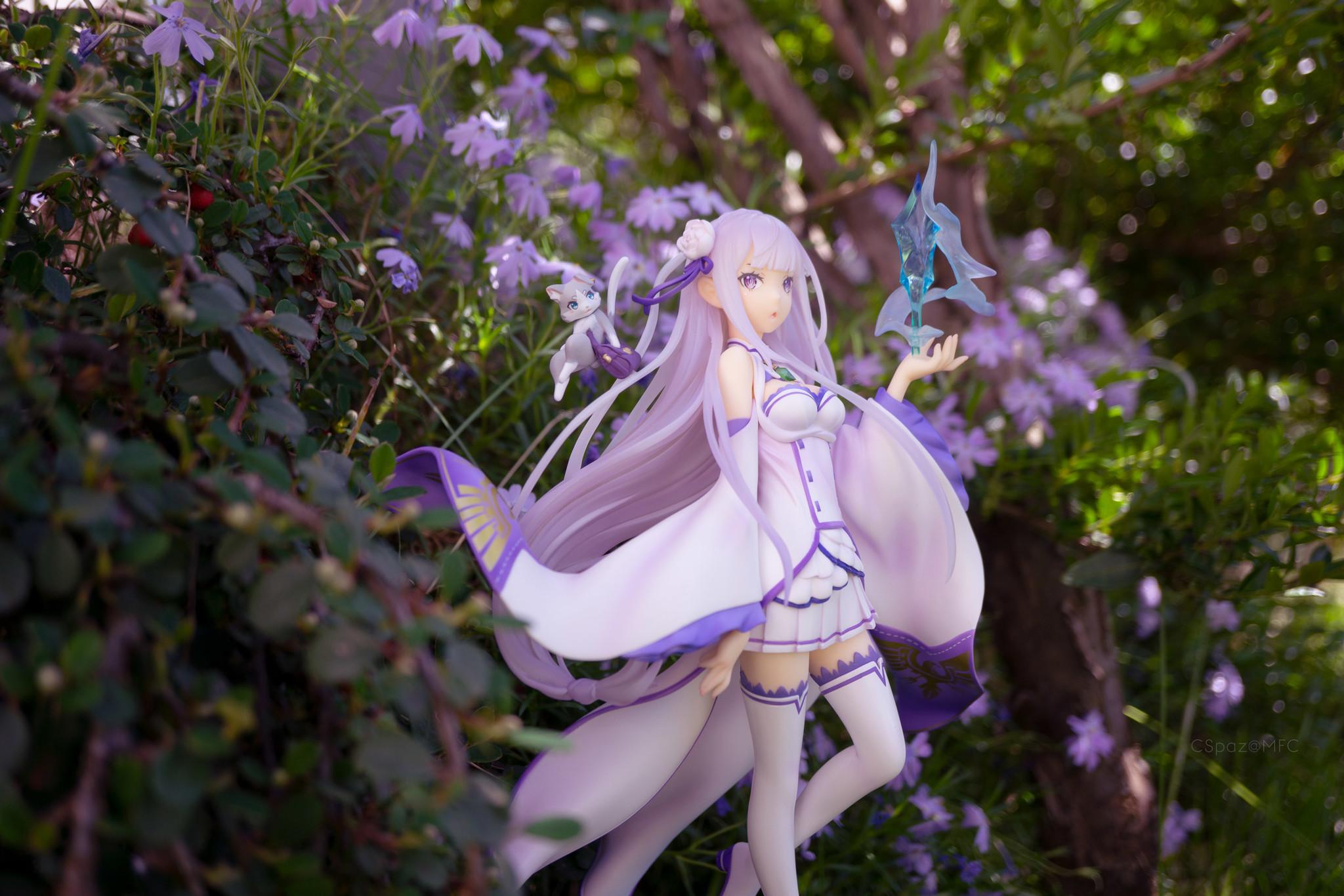 Emilia with flowers